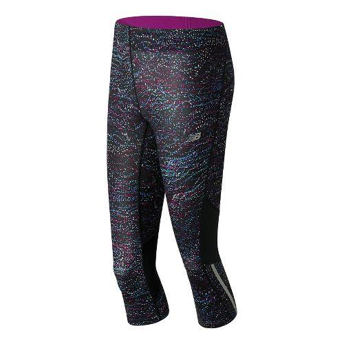 Womens New Balance Impact Print Capris Pants - Multi Castaway Print M