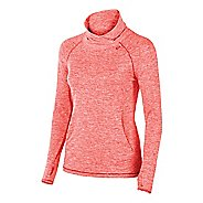 Womens ASICS ASX Lux Mock Neck Technical Tops