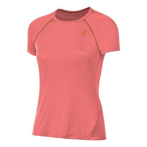 Womens ASICS Slim Short Sleeve Technical Tops - Light Pink M