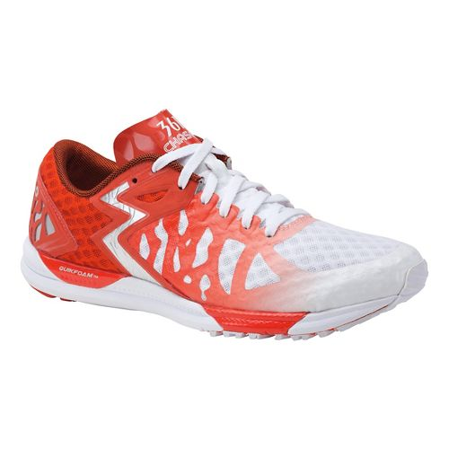 Womens 361 Degrees Chaser Running Shoe - White/Spice 10.5