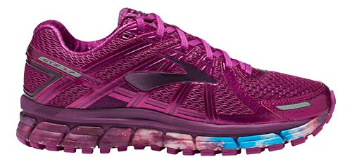 Womens Brooks Adrenaline GTS 17 Galaxy Running Shoe - Night Sky/Fuchsia 5.5