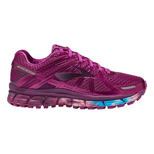 Womens Brooks Adrenaline GTS 17 Galaxy Running Shoe - Night Sky/Fuchsia 5.5
