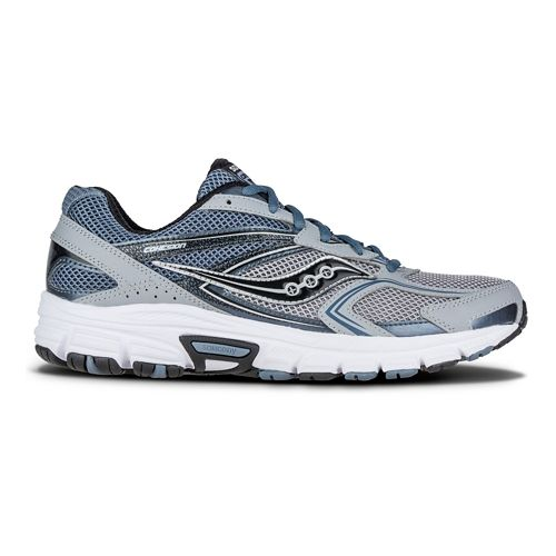 Mens Saucony Cohesion 9 Running Shoe - Grey/Silver/Black 11.5