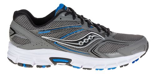 Mens Saucony Cohesion 9 Running Shoe - Grey/Black/Royal 12