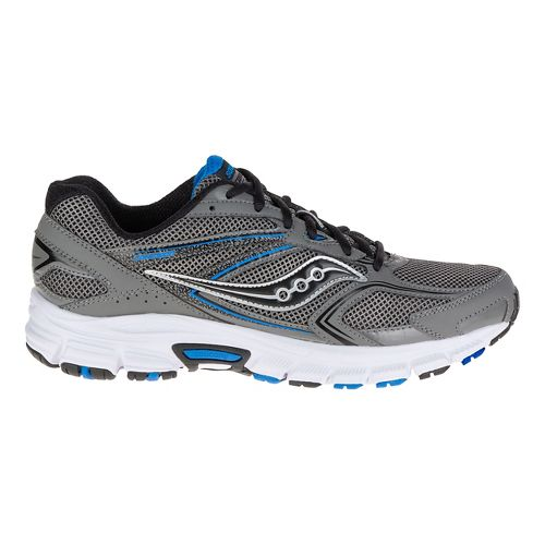 Mens Saucony Cohesion 9 Running Shoe - Grey/Black/Royal 8