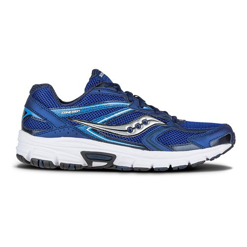 Mens Saucony Cohesion 9 Running Shoe - Navy/Grey 9.5