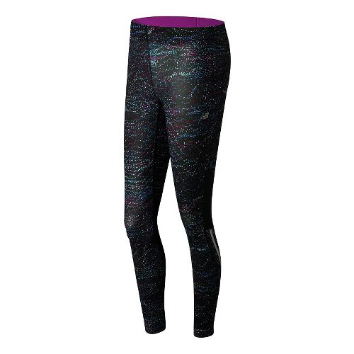 Womens New Balance Impact Print Tights & Leggings Pants - Multi Castaway Print XL