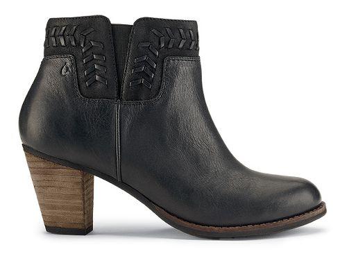 Womens OluKai Kamahoi Casual Shoe - Black/Black 5