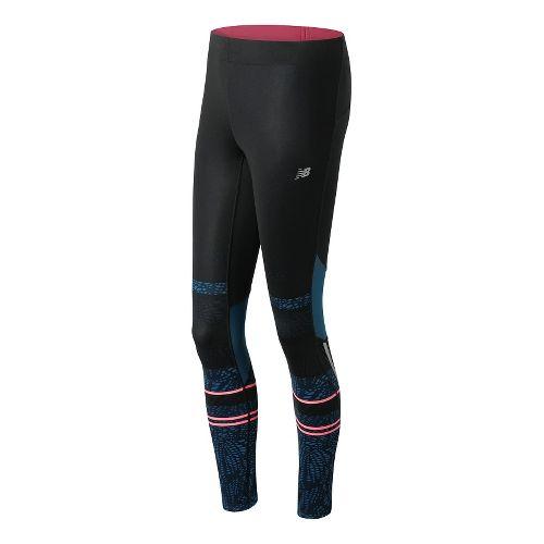 Womens New Balance Impact Premium Printed Tights & Leggings Pants - Castaway Multi L