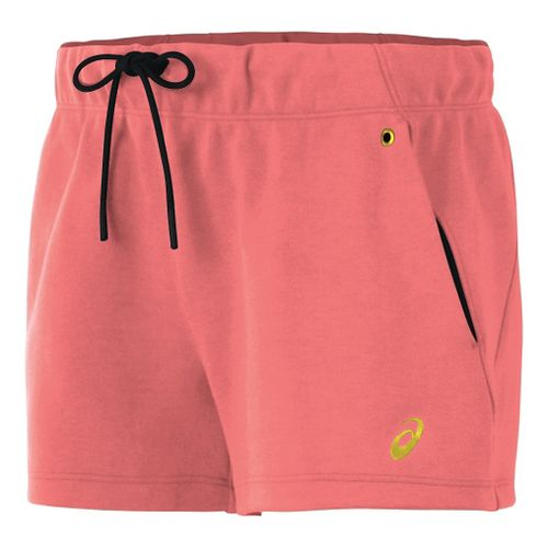 Womens ASICS Fleece Lined Shorts - Light Pink XL
