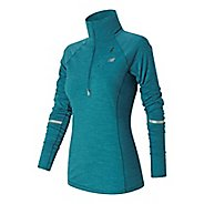 Womens New Balance Performance Merino Half Zip Long Sleeve Technical Tops