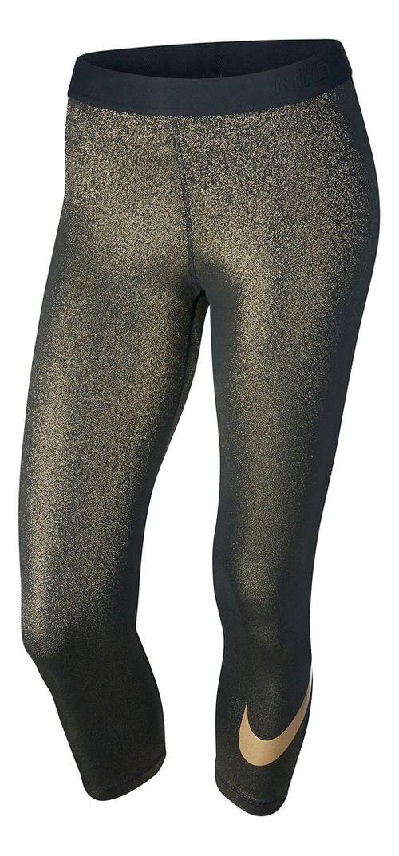 Womens Nike Pro Cool Capri Tights - Black/Gold S