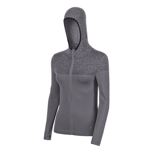Womens ASICS Fit-Sana Seamless Hoodie & Sweatshirts Jackets - Grey S