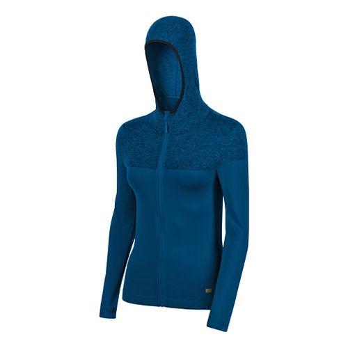 Womens ASICS Fit-Sana Seamless Hoodie & Sweatshirts Jackets - Blue S