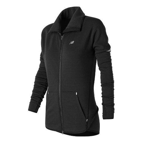 Womens New Balance Performance Merino Fashion Rain Jackets - Black S