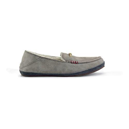 Womens OluKai Paani Slipper Casual Shoe - Fog/Dark Shadow 9
