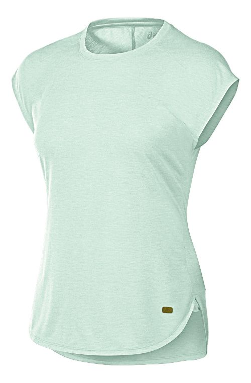 Womens ASICS Fit-Sana Short Sleeve Technical Tops - Mint Green S
