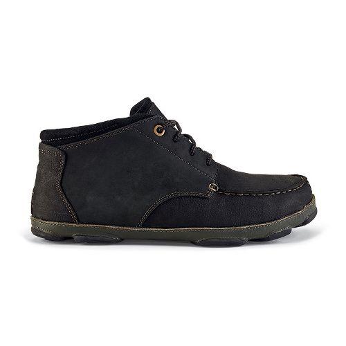 Mens OluKai Hamakua Casual Shoe - Black/Dark Shadow 9