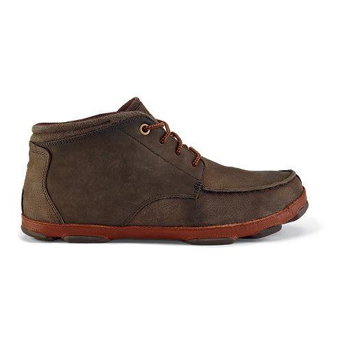 Mens OluKai Hamakua Casual Shoe - Dark Wood/Toffee 7