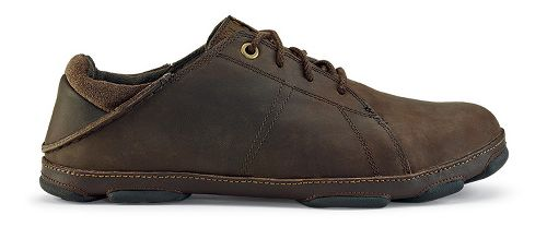Mens OluKai Hano Casual Shoe - Dark Wood/Dark Java 10