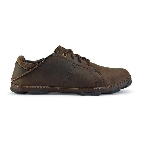 Mens OluKai Hano Casual Shoe - Dark Wood/Dark Java 9