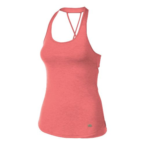 Womens ASICS Fit-Sana Crossback Sleeveless & Tank Technical Tops - Light Pink XS