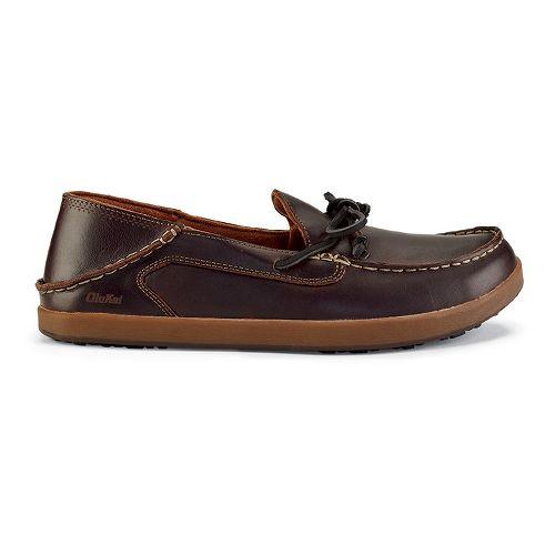 Mens OluKai Huli Casual Shoe - Dark Wood/Dark Wood 10.5
