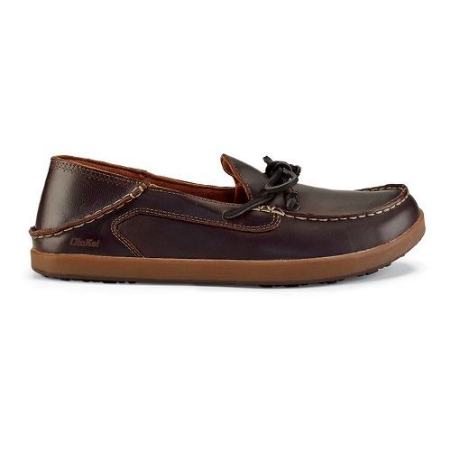 Mens OluKai Huli Casual Shoe - Dark Wood/Dark Wood 9