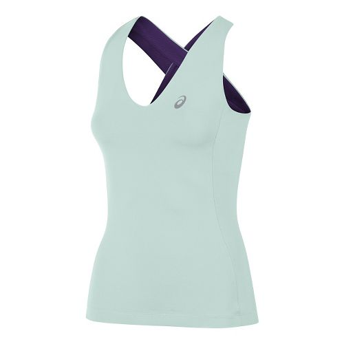Womens ASICS Athlete Sleeveless & Tank Technical Tops - Mint Green L