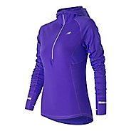 Womens New Balance NB Heat Half Zip Long Sleeve Technical Tops