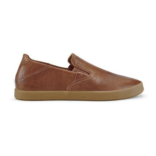 Mens OluKai Makani Leather Casual Shoe - Mustard/Mustard 9