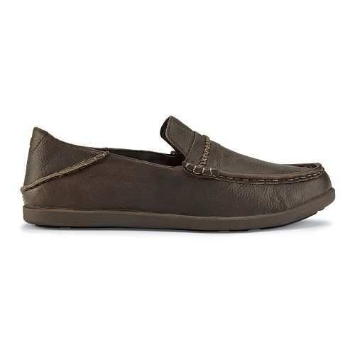 Mens OluKai Malana Country Casual Shoe - Dark Wood/Dark Wood 11
