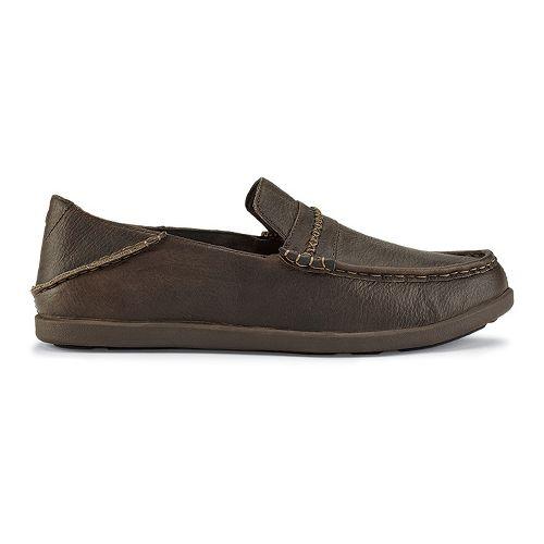 Mens OluKai Malana Country Casual Shoe - Dark Wood/Dark Wood 8
