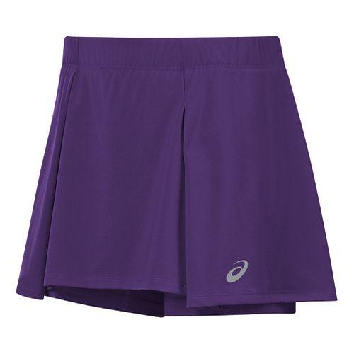 Womens ASICS Athlete Skorts Fitness Skirts - Purple XL