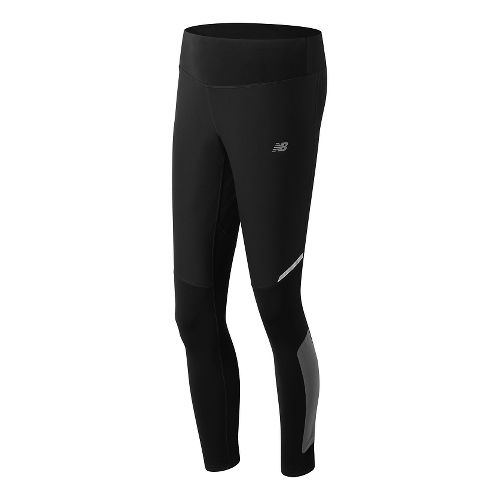 Womens New Balance Windblocker Tights & Leggings Pants - Black L