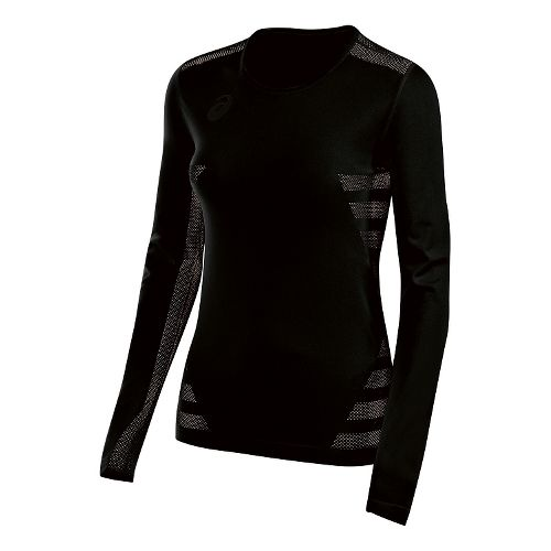 Womens ASICS Tactic Court Long Sleeve Technical Tops - Black XXL
