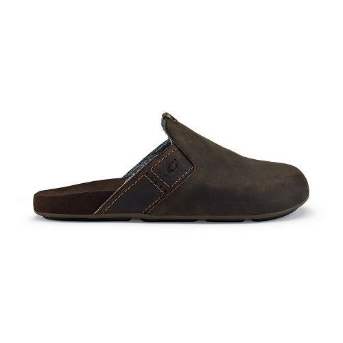 Mens OluKai Noho Kai Casual Shoe - Dark Wood/Dark Wood 11