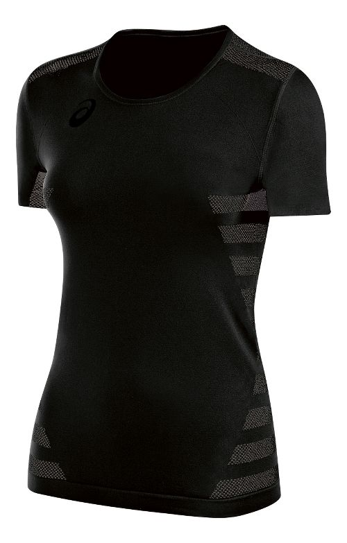 Womens ASICS Tactic Court Short Sleeve Technical Tops - Black XS