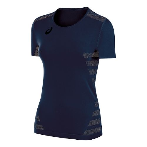 Womens ASICS Tactic Court Short Sleeve Technical Tops - Navy XL