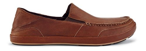 Mens OluKai Puhalu Leather Casual Shoe - Toffee/Toffee 14