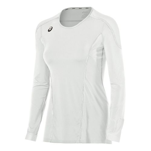 Womens ASICS Domain II Jersey Long Sleeve Technical Tops - White L