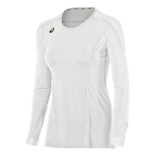 Womens ASICS Domain II Jersey Long Sleeve Technical Tops - Royal/White S