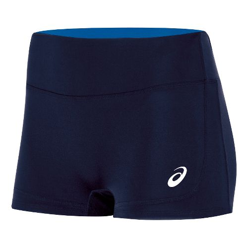 Womens ASICS Volley Booty Compression & Fitted Shorts - Navy/Royal XL