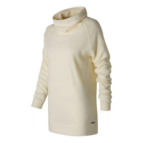 Womens New Balance Hoodie & Sweatshirts Non-Technical Tops - Angora L