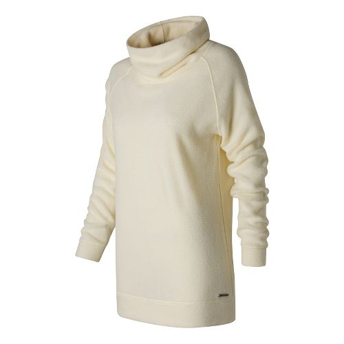 Womens New Balance Hoodie & Sweatshirts Non-Technical Tops - Angora M