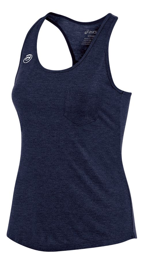 Womens ASICS TM Tech Sleeveless & Tank Technical Tops - Navy Heather XXL