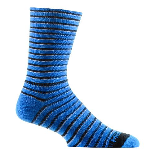 WrightSock CoolMesh II Crew Socks - Blue Stripe L