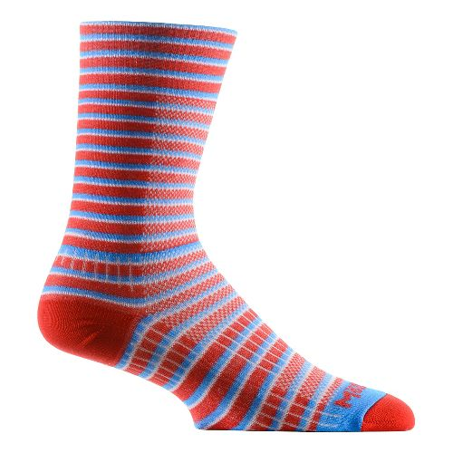 WrightSock CoolMesh II Crew Socks - Red Stripe M