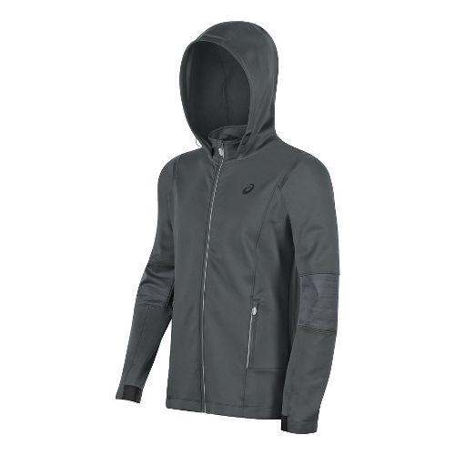 Mens ASICS Lite-Show Winter Rain Jackets - Dark Grey XXL
