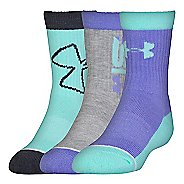 Kids Under Armour Next Crew 3 pack Socks